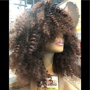 Brown Curly Wig